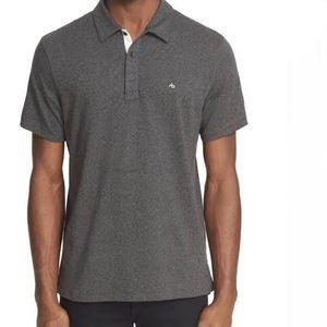 Rag & Bone Men's Heathered Grey Polo Shirt Size XL